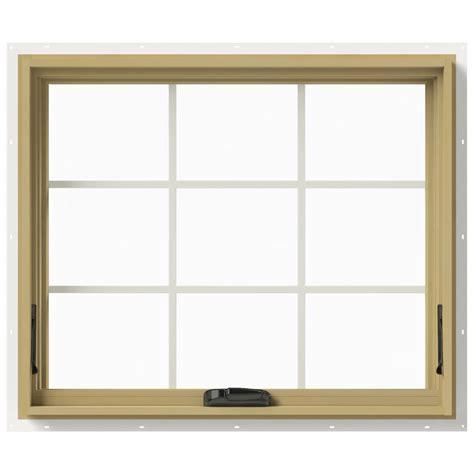 Jeld Wen Aluminum Clad Wood Windows Decor Jeld Wen 36 In X 30 In W 2500 Awning Aluminum Clad Wood Window Thdjw143300155 The Home Depot