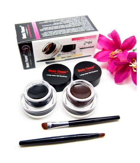 Flower Eyeliner Powder Brown flower gel eyeliner black brown buy flower gel eyeliner black brown at best