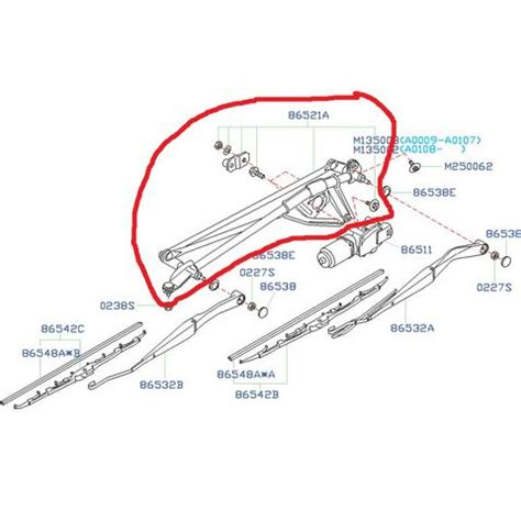 subaru wiper linkage subaru wiper linkage 2002 2003 impreza wrx fastwrx