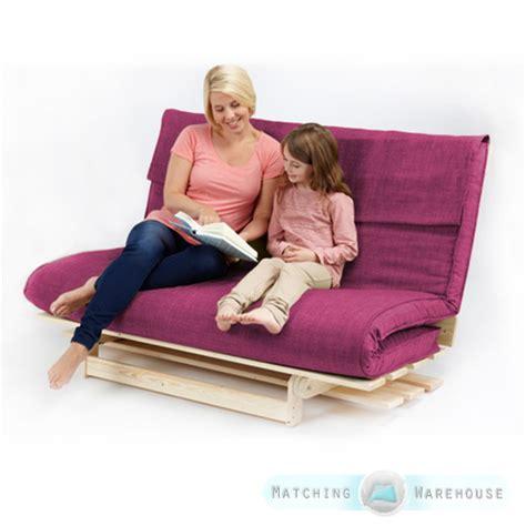 2 3 seater textured fabric wood futon base foam