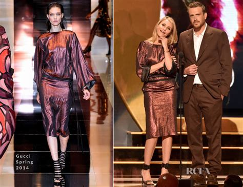 Catwalk To Carpet Cameron Diaz In Gucci by Cameron Diaz In Gucci Spike Tv S Guys Choice 2014