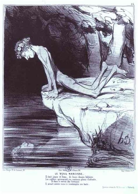 oeuvres themes narcisse s 233 rie histoire ancienne le beau narcisse honor 233 daumier