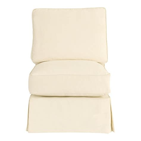 armless chair slipcover davenport armless club chair slipcover special order