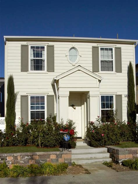 white colonial homes photo page hgtv