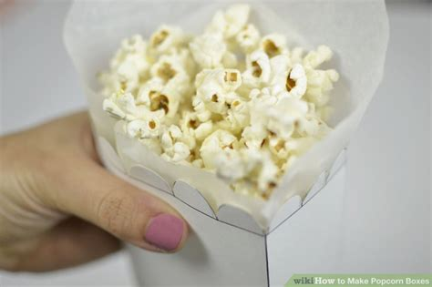 How To Make Popcorn Out Of Paper - 4 ways to make popcorn boxes wikihow
