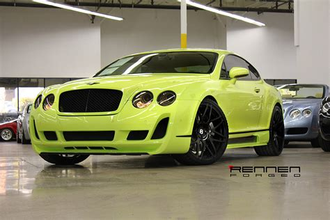 lime green bentley rennen monolicht brings you a custom bentley gt