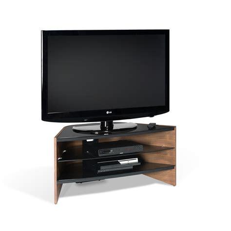 32 Inch Tv Cabinet by Walnut 3 Black Glass Shelf Corner Lcd Plasma Tv Stand 32