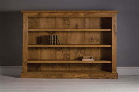 low plank bookcase handcrafted by indigo furniture