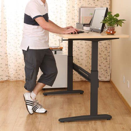 diy adjustable standing desk pintyheight adjustable manual crank standing desk diy sit stand workstation walmart