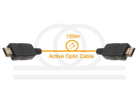 Hdmi M M Active Cable 3d 30mtr Z Tek hdmi na 蝗wiat蛯ow 243 d przew 243 d 150m active optic cable hdmi 1 4