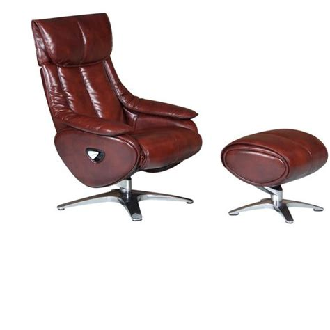 alpha real alpha real leather swivel recliner
