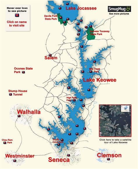 lake oconee map oconee county lake keowee picture map