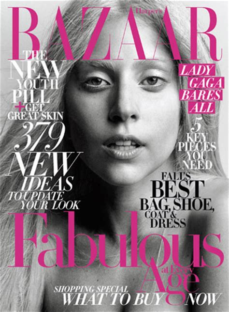 Cover Wars Harpers Baazar Vs Vogue Nippon by Gaga Goes Make Up Free For S Bazaar