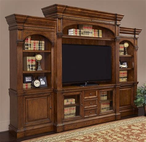 a wall media entertainment center like this deserves a
