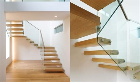 U Stairs Design Floating Stair Tread Brackets Ontemporary Brightly U Shaped Floating Staircase Design Ideas With