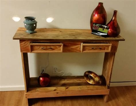 Wood Hallway Table Rustic Pallet Wood Entry Hallway Table Pallet Ideas Recycled Upcycled Pallets Furniture