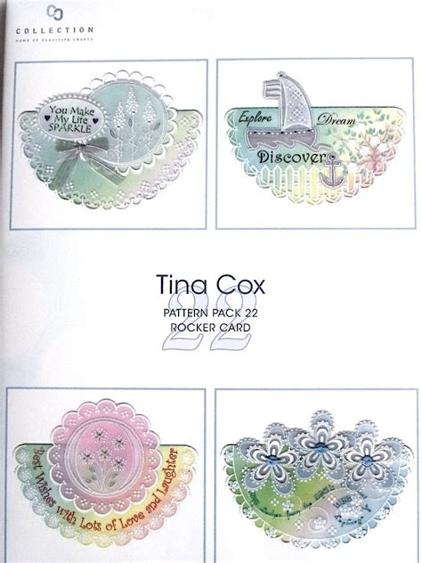 rocking card template tina cox chrismas joys parchment pattern packs books