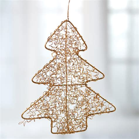gold wire mesh christmas tree ornament christmas