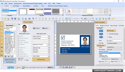 identity card software free student id cards maker software design and print