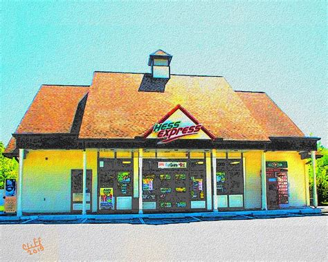 Hess Express Gift Card - hess express in ashland ma painting by cliff wilson