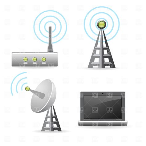 Wireless Engineering by Wireless Technology Icons Royalty Free Vector Clip Image 1854 Rfclipart