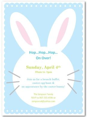 easter invitation templates printable easter bunny invitation template
