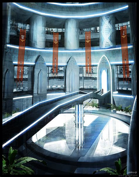 futuristic library by gregmks on deviantart