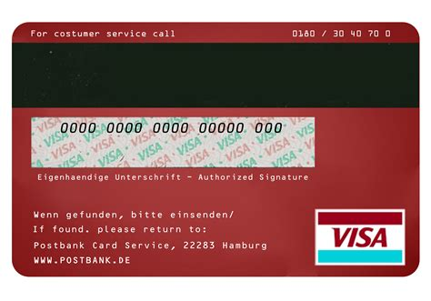Credit Card Back Side Template Credit Cardback 点力图库
