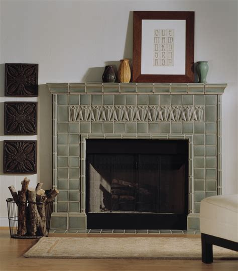 Motawi Fireplace by Fireplace Gallery Pratt Larson Tile And