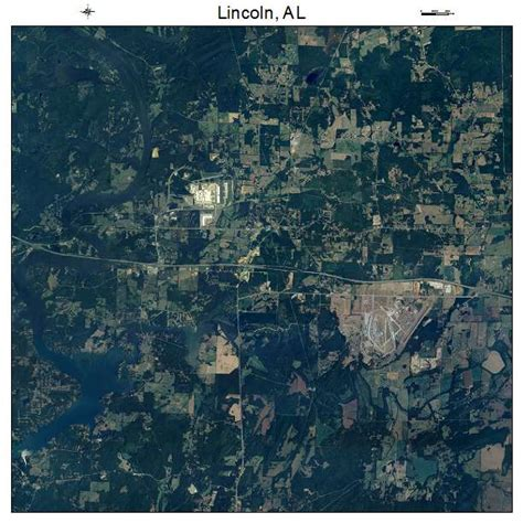 aerial photography map of lincoln al alabama