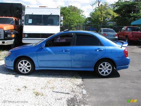 2005 Kia Spectra Imperial Blue 2005 Kia Spectra Lx Sedan Exterior Photo