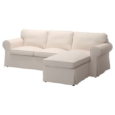 chaiselongue sofa ektorp two seat sofa and chaise longue lofallet beige ikea