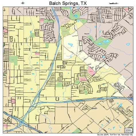 map of springs texas balch springs texas map 4805372