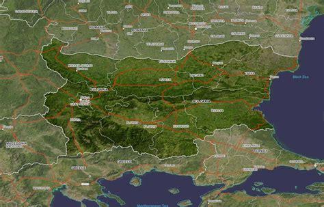 satellite maps bulgaria satellite map bulgaria mappery
