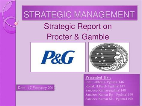 Procter And Gamble Mba Leadership Program by P G Marketing Strategies