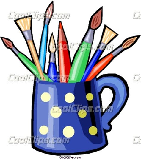 %name good quality colored pencils   Cup Of Pencils And Brushes Clipart