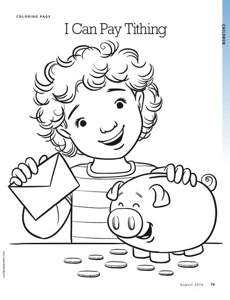 lds coloring pages on tithing coloring page liahona august 2016 79 liahona