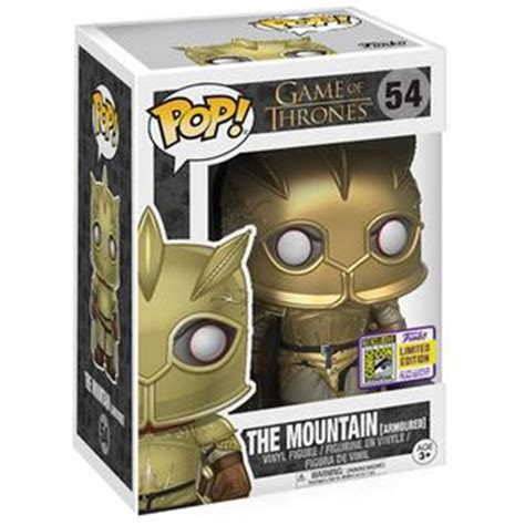 Funko Pop Of Thrones The Mountain Armoured Sdcc 2017 figurine the mountain armoured of thrones funko pop
