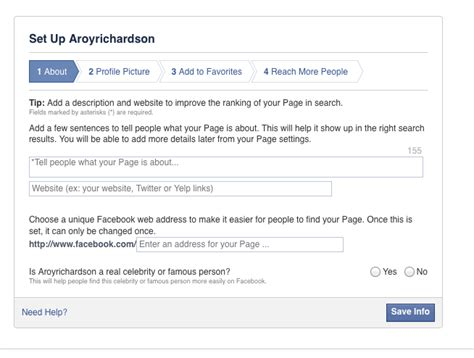 facebook celebrity page setup creating a facebook page a beginner s guide part 1