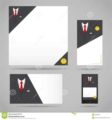 black suit business card template clothing suit card template stock vector image