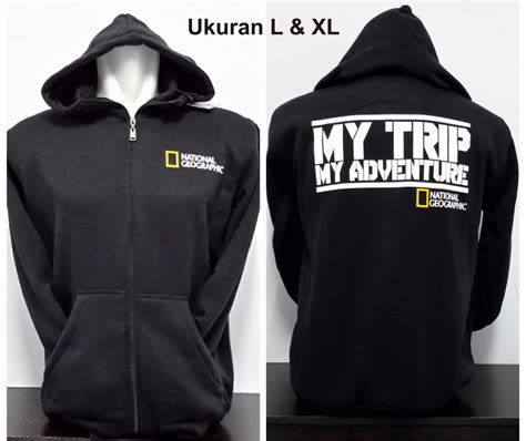 Zipper Unisex Hitam jual jaket hoodie national geographic black hitam natgeo