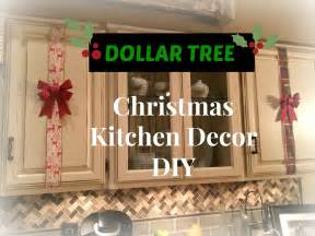 Diy Kitchen Cabinet Decorating Ideas dollar tree christmas kitchen cabinets decor diy plaid