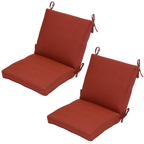 Outdoor Dining Chair Cushion Spa Outdoor Dining Chair Cushion 2 Pack 7260 02407600 The Home Depot