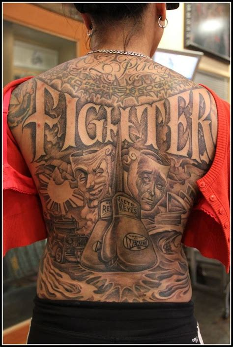 chicana tattoos fighter chicano style gangsta gangsta