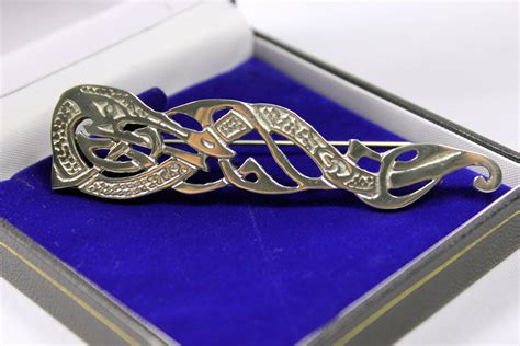 Handmade Scottish Jewellery - scottish handmade pewter large kilt pin one more gift