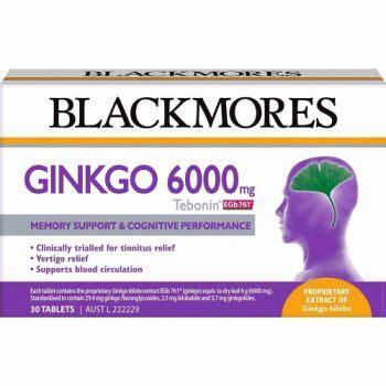 Ginkgo Biloba 6000 Original Daya Ingat Vertigo Tebonin Tablets 30 Now Blackmores Ginkgo 6000 Towers