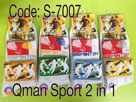 Kaos Kaki Olahraga Badminton Basket Lari distributor kaos kaki sport qman