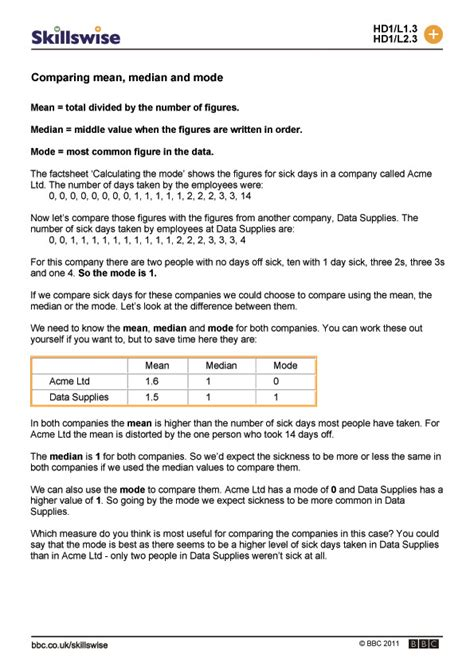 Median Mode Range Worksheets Pdf by Mode Median Worksheets Worksheets