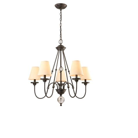 Chandelier Home Depot Hton Bay Bienville 5 Light Bronze Chandelier Esq7115a 4 The Home Depot