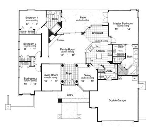 keystone 3986 4 bedrooms and 2 5 baths the house designers